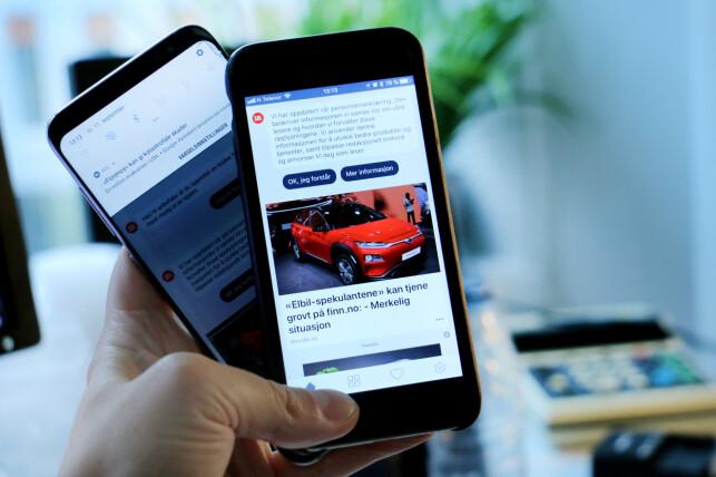 Den nye SOL-appen, bygd med React Native, kjører på både Android og iOS. Foto: Ole Petter Baugerød Stokke