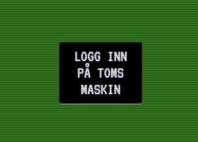 Den fiktive login-skjermen brukes til å fange et klikk-event fra brukeren. Foto: Jørgen Jacobsen