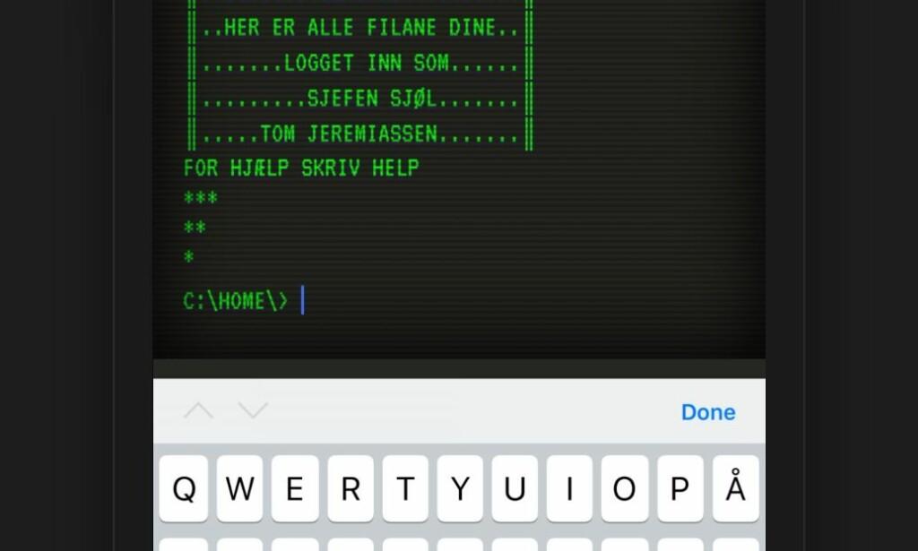 iOS insisterer på å ha blåfarget blinkende boks. Foto: Jørgen Jacobsen
