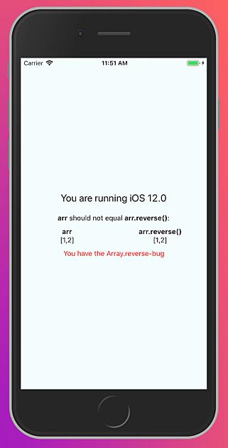 Christian Brevik lagde en React Native-app for å bevise at feilen også dukker opp der. Foto: Christian Brevik / kode24