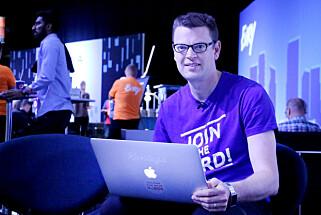 Utvikleren Martin Skarsaune i Kantega bruker Mac for å enklere bruke Unix-verktøy. Foto: Ole Petter Baugerød Stokke