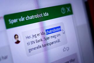 Snart kan roboter som Ida hos BN Bank gjøre ting med bankkontoene. 📸: Ole Petter Baugerød Stokke