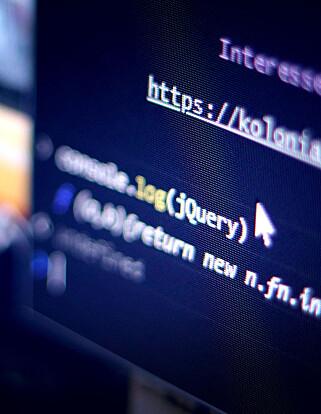 Skriv dette i konsollen, så ser du raskt om nettsida du besøker bruker jQuery. Det gjør de ofte. 📸: Ole Petter Baugerød Stokke