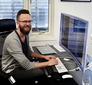 Alfred Bratterud startet IncludeOS på Høyskolen i Oslo og Akershus. 📸: Jørgen Jacobsen