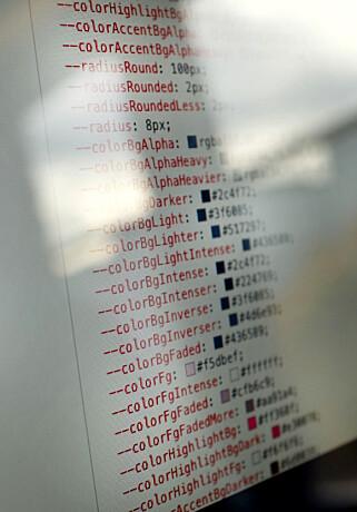 Grensesnittet i Vivaldi er basert på webteknologi. Det betyr at alt kan endres med CSS-variabler. Her fra maskinen til Henrik Helmers på design-teamet. 📸: Jørgen Jacobsen
