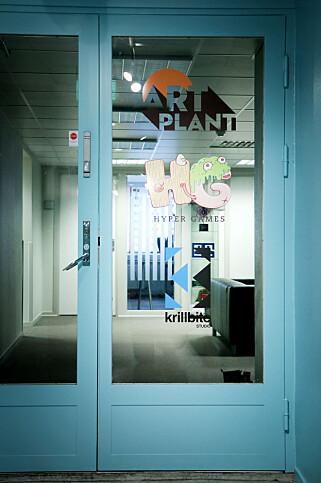 Krillbite sitter i lokaler sammen med to andre norske spillselskaper; Artplant, nylig oppkjøpt av svenske Toadman, og Hyper Games, en avlegger fra byrået Hyper. 📸: Ole Petter Baugerød Stokke