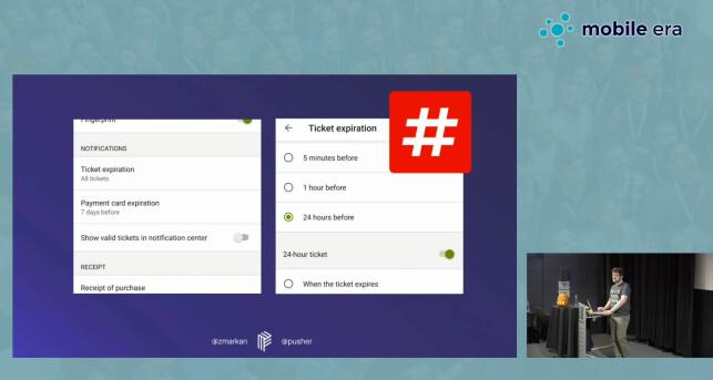 Zan Markan trekker fram Ruter-appen som et godt eksempel på å gi brukerne kontroll. 📸: Mobile Era 2018