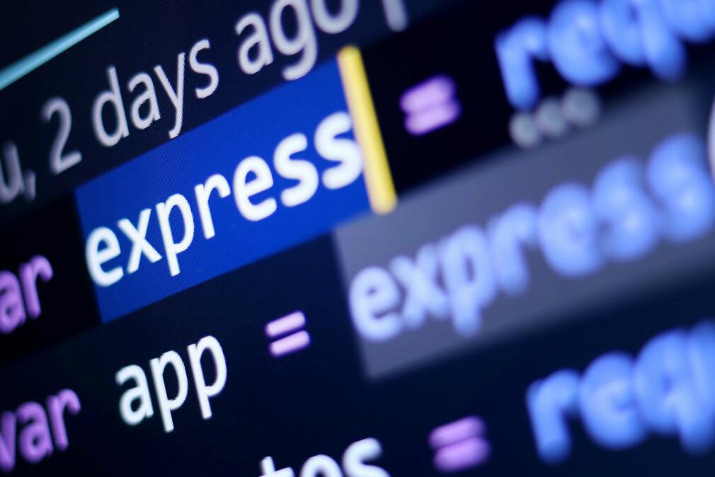 Backend-utviklere foretrekker JavaScript-rammeverket Express.js, viser kode24s undersøkelse. 📸: Ole Petter Baugerød Stokke