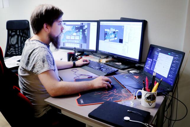 Megapop bruker, i likhet med de aller fleste andre i norsk spillbransje, spillmotoren Unity. 📸: Ole Petter Baugerød Stokke