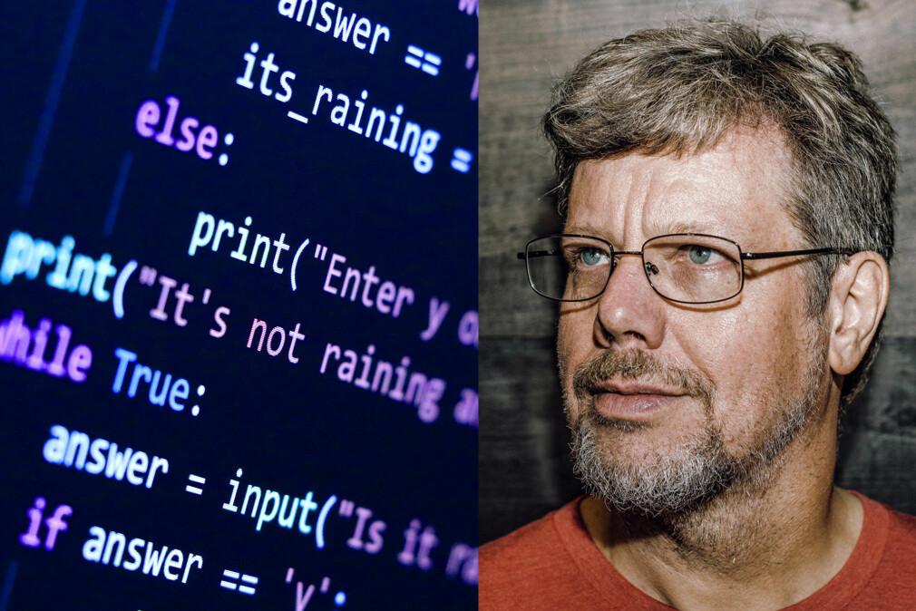 Guido Van Rossum fant opp Python, som er oppkalt etter TV-serien med Monty Python. 📸: Daniel Stroud / CC BY-SA 4.0