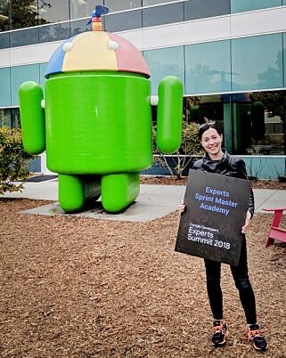 Kristina Simakova var i år på Googles hovedkvarter for Google Developers Experts Summit. 📸: Privat