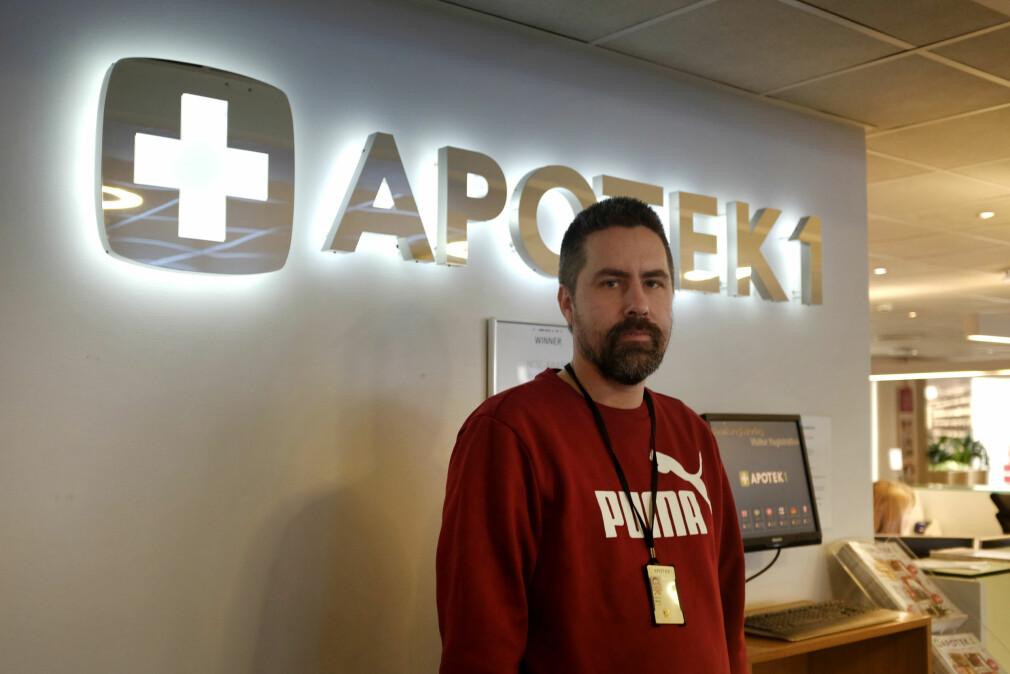 Håkon Nykvist er leder for utviklingsavdelingen hos norges største Apotek-kjede, Apotek 1. 📸: Jørgen Jacobsen