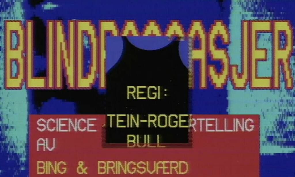 Introsekvensen til Blindpassasjer hadde nok et science fiction-aktig preg i 1978. I dag er den et snodig klenodium fra fortidens digitale videoteknologi. 📸: NRK