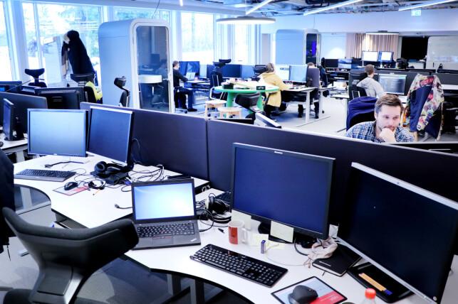 Lokalene Storebrands utviklere sitter i ble pussa opp i fjor. 📸: Ole Petter Baugerød Stokke