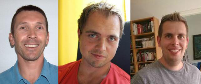 Vidar Moe, Gunnar Kriik og Anders Gjendem i Sparebank 1. 📸: Privat