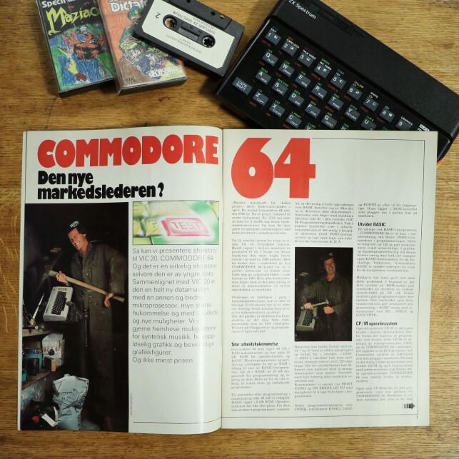 Hjemmedata var spent på salgstallene til Commodore 64. 📸: Ole Petter Baugerød Stokke
