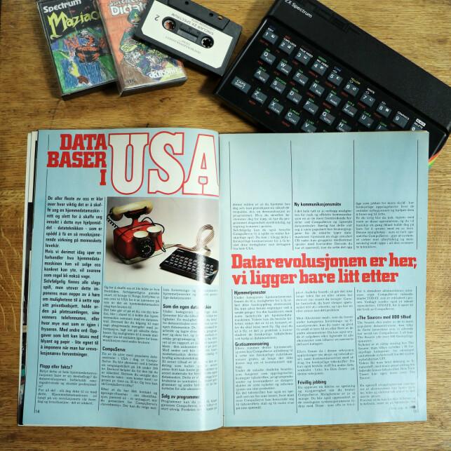 Hjemmedata var imponert over CompuServe i USA. 📸: Ole Petter Baugerød Stokke