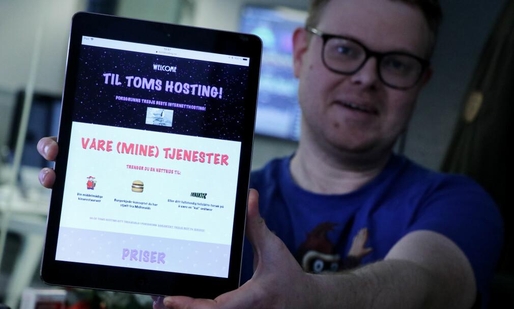 Tomshosting.no var en del av julekalenderen på kode24.no. 📸: Ole Petter Baugerød Stokke