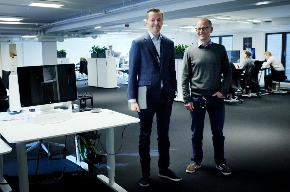 Driftsdirektør Jonas Rein Tovsen og strategidirektør Marius Mårnes Mathiesen i Shortcut forteller hvordan de lagde apper i 2018, og hvordan de tror de skal jobbe i 2019. 📸: Ole Petter Baugerød Stokke