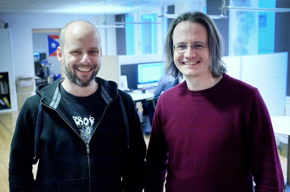 Utviklerne Christian Johansen og Magnar Sveen og i Kodemaker skriver det meste som funksjonell Clojure- og ClojureScript-kode. Nå forklarer de deg hva funksjonell programmering egentlig er. 📸: Ole Petter Baugerød Stokke