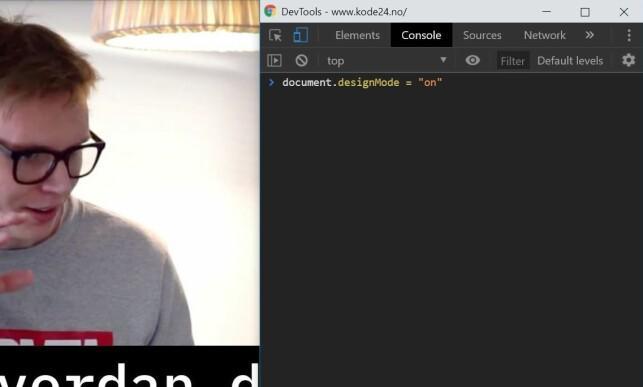 Designmodus kan brukes til å redigere tekst direkte på nettsiden din, slik som titler. Du kan til og med flytte på bilder og enkelte andre HTML-elementer. 📸: Jørgen Jacobsen