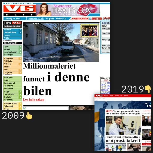 image: Norske nettsider for 10 år siden