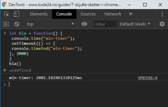 Du kan enkelt ta tida på koden din, med console.time(). 📸: Jørgen Jacobsen