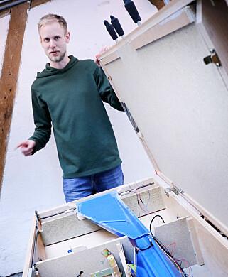 Også foosball-bordet er satt opp gjennom Sanity. Blant annet for matchmaking. 📸: Ole Petter Baugerød Stokke