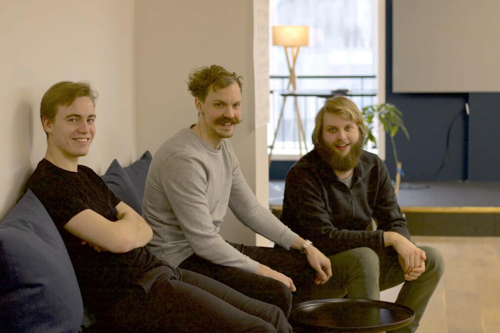 Øystein Hovind, Olle Fredriksson og Runar Furenes i Folq forteller om sin bruk av Elm og Haskell. 📸: Folq