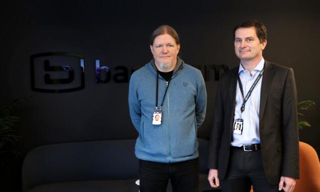 Petter Tømmeraas og Ketil Hjort K. Elgethun jobber begge i Basefarm Data Center Services. 📸: Jørgen Jacobsen