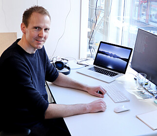 Seniorutvikler Christian Schwarz berømmer Ruby for sitt produktive miljø. 📸: Jørgen Jacobsen