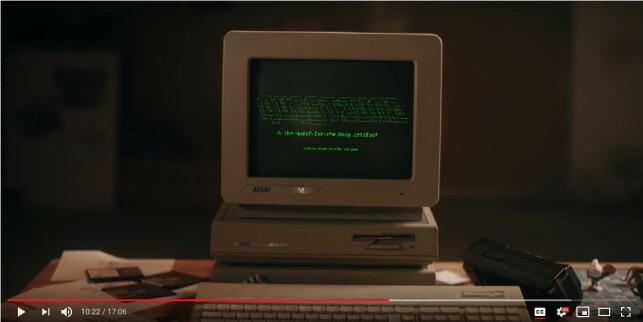 Atari Mega ST2 (screenshot from the movie)
