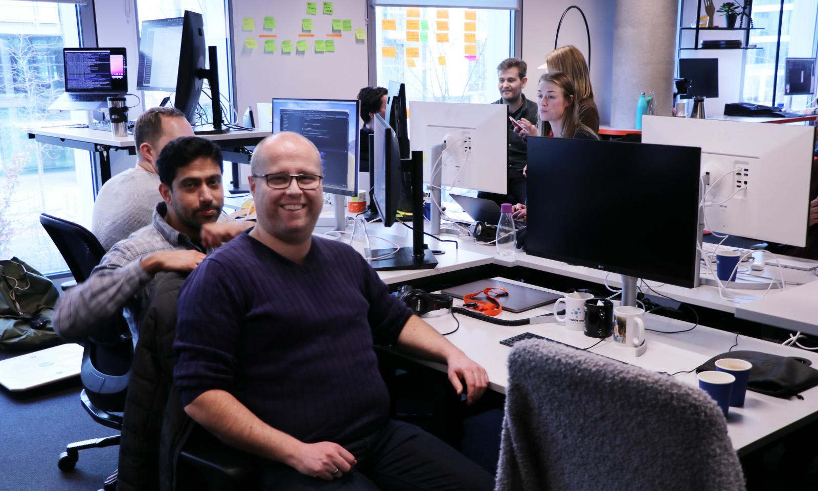 Lasse Bjørknes Magnussen bygger Android-versjonen av Vipps. 📸: Jørgen Jacobsen