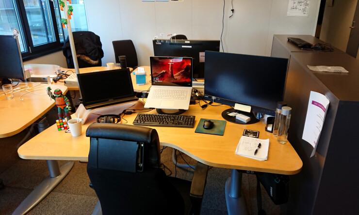 Arbeidsplassen til Marius hos Telenor. 📸 Privat