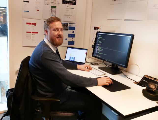 Jarle Holtan på arbeidsplassen i NSB. 📸: Privat