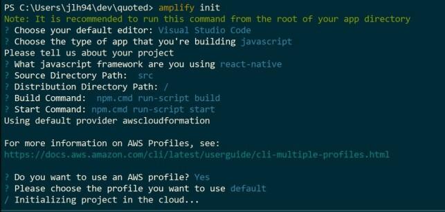 amplify init process