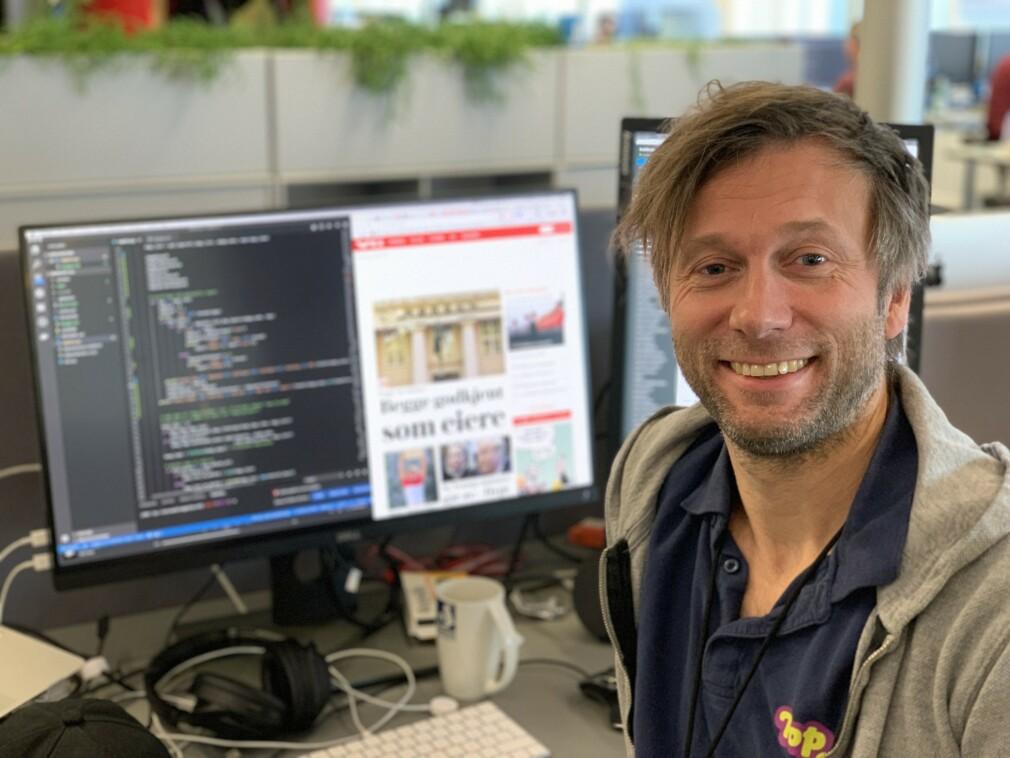 Audun Ytterdal og gjengen bak VG.no er noen av de fremste i Norge på hosting. 📸: Privat
