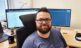 image: Geir laget egen låseskjerm til Linux