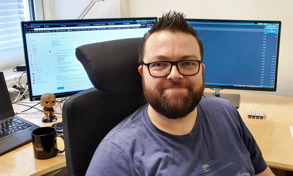 Geir Aasen jobber til daglig som forbundssekretær i EL og IT-forbundet. 📸: Privat