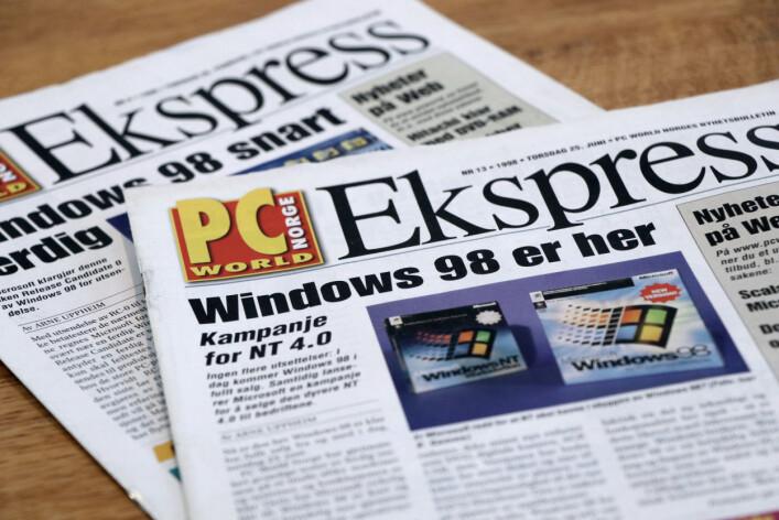 """""""Windows 98 er her!"""". 📸: Ole Petter Baugerød Stokke"""