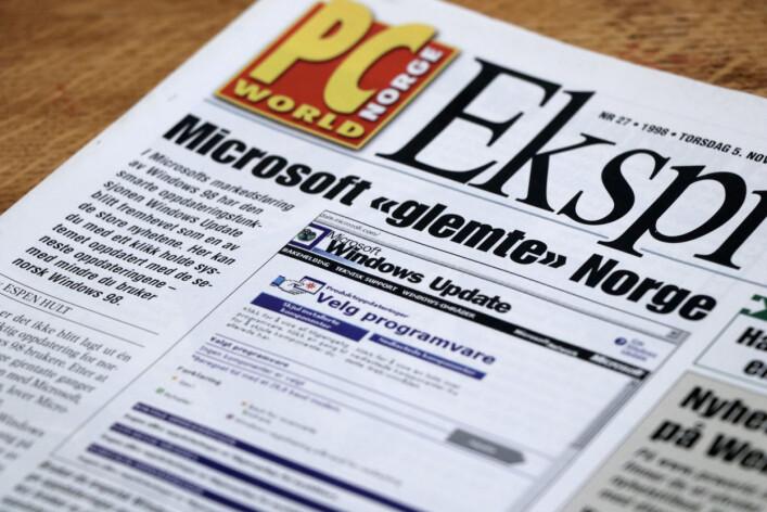 """""""Microsoft glemte Norge"""". 📸: Ole Petter Baugerød Stokke"""