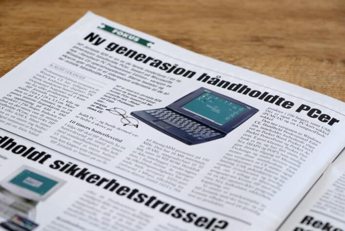 Håndholdte PC-er i 1998. 📸: Ole Petter Baugerød Stokke