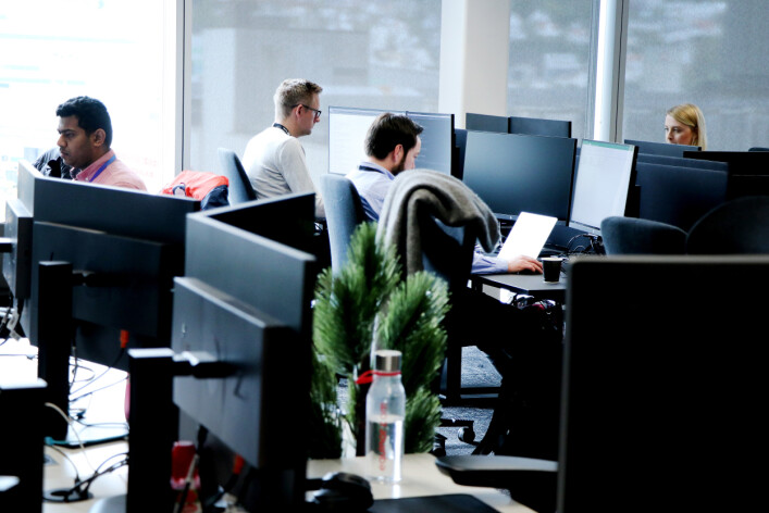 Det er åpne kontorlandskaper som gjelder i Media City, hvor TV 2 holder til sammen med blant annet NRK. 📸: Ole Petter Baugerød Stokke