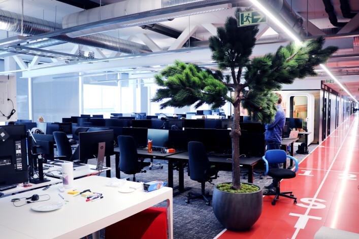 I disse lokalene sitter TV 2 Sumo sine dedikerte utviklere. I tillegg bidrar også andre avdelinger. 📸: Ole Petter Baugerød Stokke
