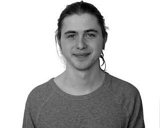 Tobias studerer i Taiwan, og måtte lage sin egen nettside for kurs på studiet. 📸: Privat