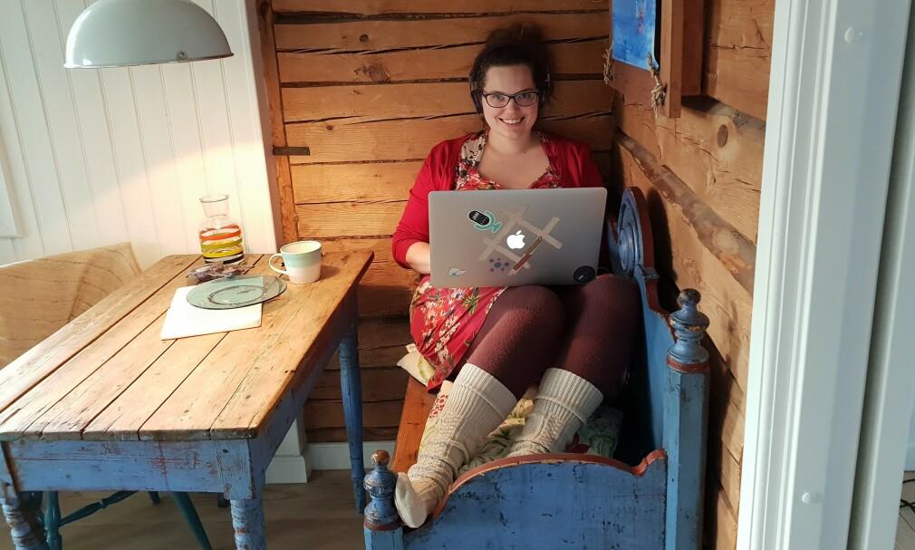 Benedicte Raae er 36 år gammel, og har jobbet som selvstendig full stack-utvikler i nesten ti år. 📸: Privat