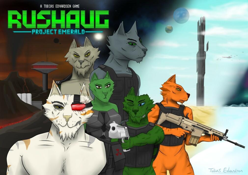 Rushaug - Project Emerald er prosjektet til Tobias Edvardsen. Spillet er foreløpig ikke ute, men etter mange års arbeid håper han endelig å få det ut på Steam senere i år.