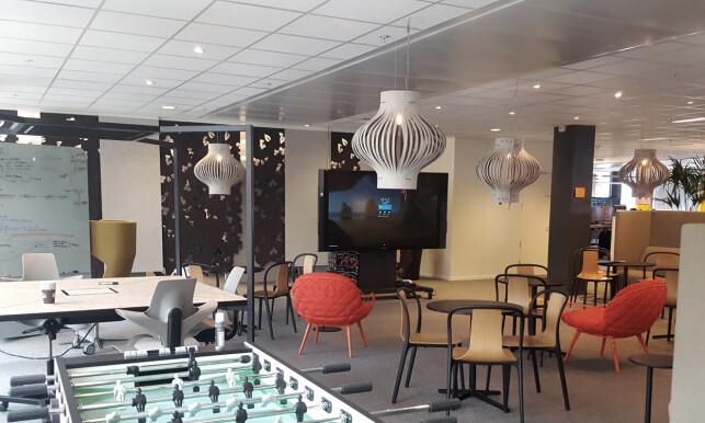 Foosball hører til et godt loungeområde. 📸: Privat
