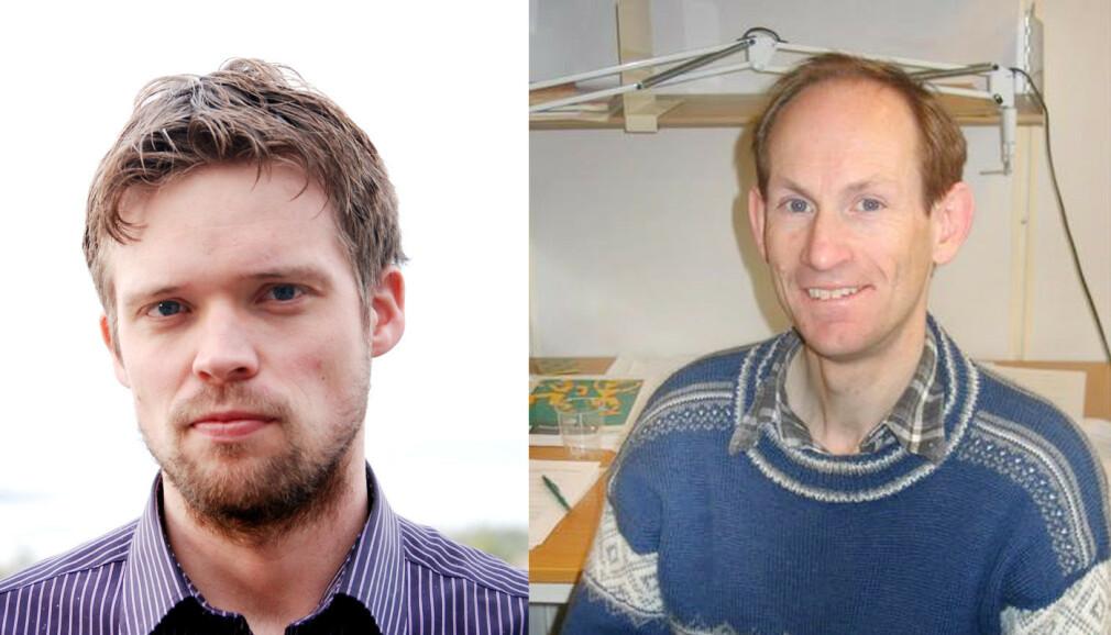 Faglærer Geir Kjetil Sandve på Universitetet i Oslo, og faglærer Dag Haugland ved Universitet i Bergen har begge byttet til Python for undervisning på grunnkurs i programmering. 📸: Privat