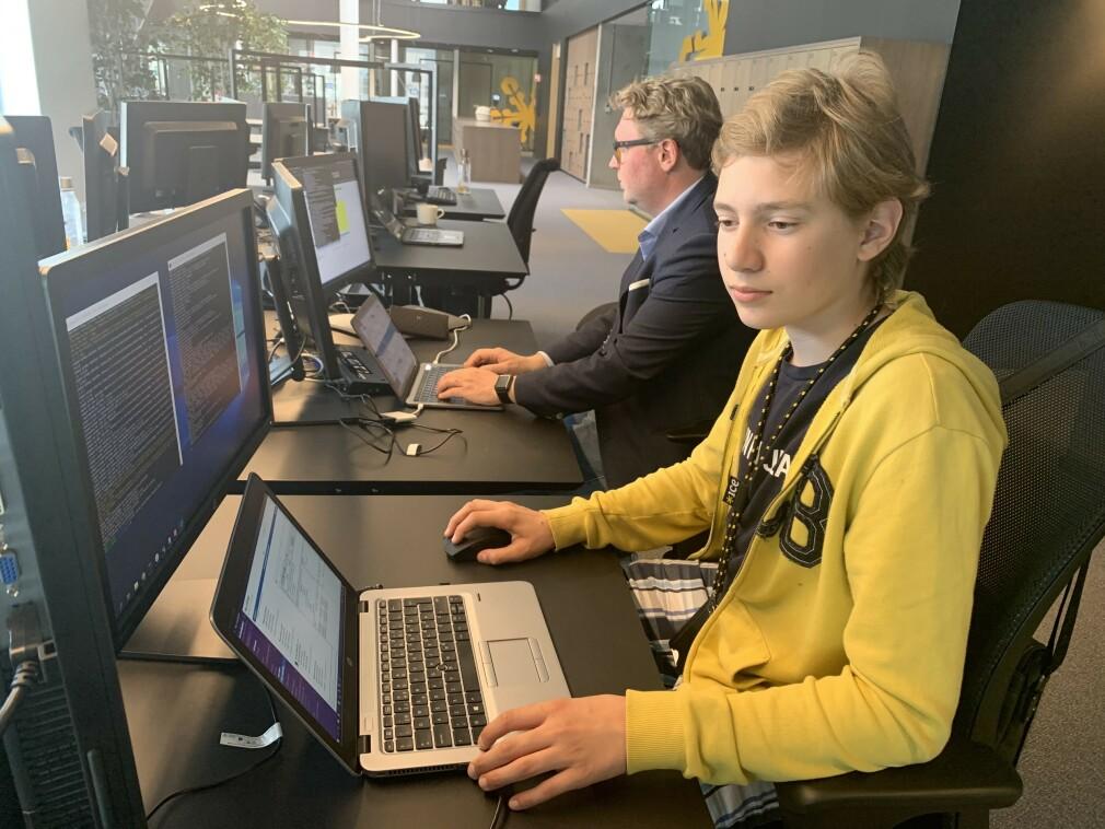 Igor Iwanicki er bare 14 år, men jobber i sommer som Python-utvikler hos ice. 📸: Privat